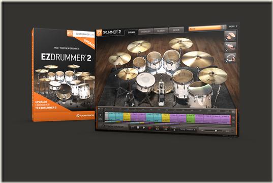 EZDRUMMER 2 Upgrade - BoxScreen
