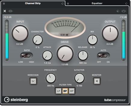 Cubase 10_Channel Strip Tube